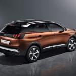 Peugeots baglygtesignatur med tre striber er rendyrket på den nye 3008.