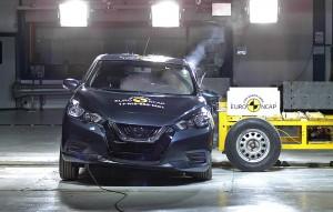 Nissan Micra klarer sig relativt godt, men du skal op i topudgaven for at få femstjernet sikkerhed.