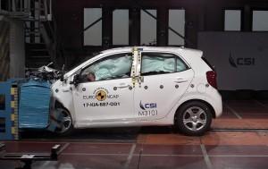 Kia Picanto er en af de nye biler, der kunne være bedre til at modstå sammenstødet med muren i Euro NCAPs crashtest.
