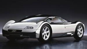 Konceptbilen Audi Avus er en af de mest spektakulære bildesigns, som J Mays står bag. Desværre kom bilen aldrig i produktion.