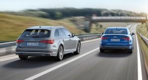 Bagfra er det kun de firkantede udstødningsrør, der afslører, at Audi A4 har fået et facelift.