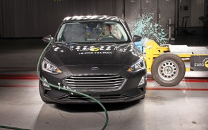 Når Ford Focus kommer til Danmark til september bliver det med topkarakter i Euro NCAPs crashtest i bagagen.